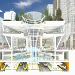 Cross Section of the Transit Center at the Grand Hall