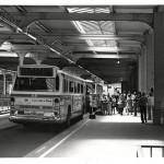 An AC Transit Express Bus in the Transbay Terminal