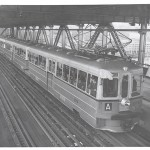 Governor on Bay Bridge Train Test Run (1938)