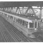 Governor on Bay Bridge Train Test Run (1938)