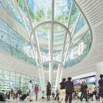 Jenny Holzer: Mezzanine-level LED installation, day-time view
