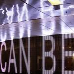 Jenny Holzer: Mezzanine-level LED installation, night view