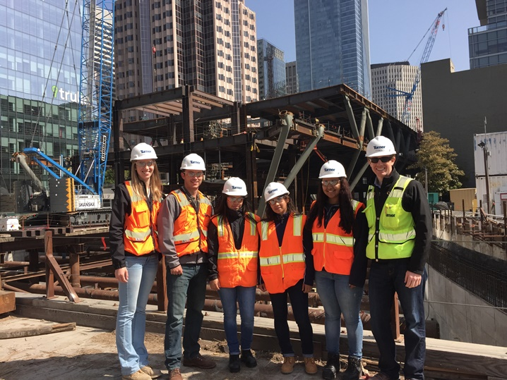 Tech 21 Interns and Turner Construction