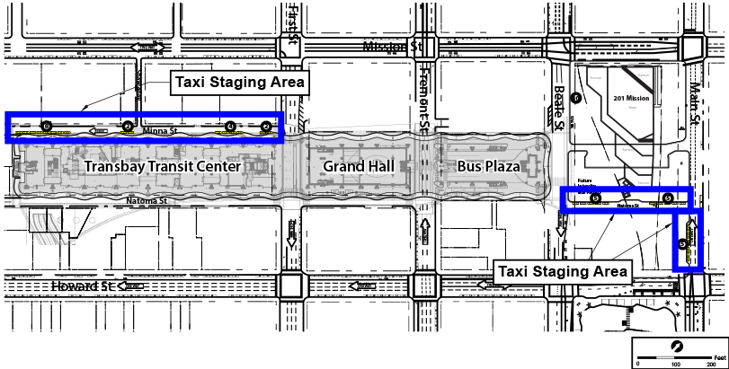 Figure 2-16: Taxi Staging Areas