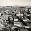 Transbay Terminal, SOMA,  and Bay Bridge (1939)