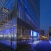 James Carpenter: Seven World Trade Center, Exterior – Podium Light Wall, 2002-07 (Night)